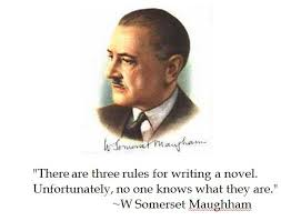Somerset Maughham 3 rules quote & photo