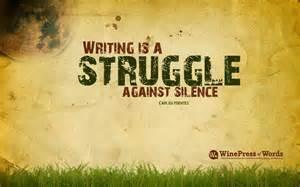 writing struggle against silence