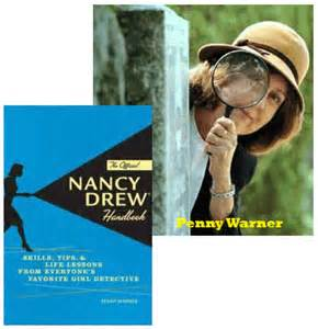 Penny warner with Nancy Drew book