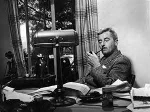 Faulkener at his desk