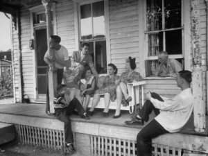Ann's porch with people