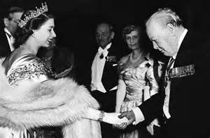 Queen Elizabeth knights Churchill
