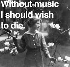 Edna St. Vincent Millay with music quote