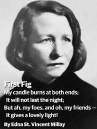 Edna St. VM image and poem First Fig