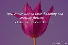 Edna St VM poem about spring