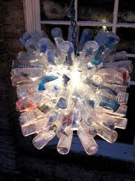 Plastic bottles lamp