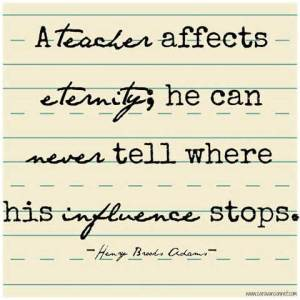 Teachers influence