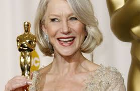 Helen Mirren with oscar