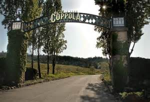 Coppola name on wire arch entrance