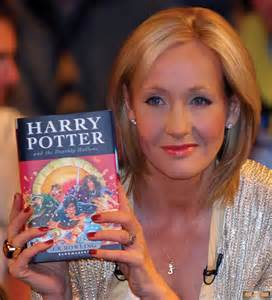 jk Rowling with book