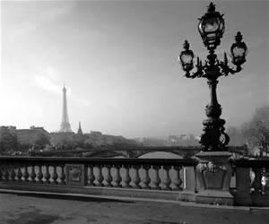Paris Bridge black and white