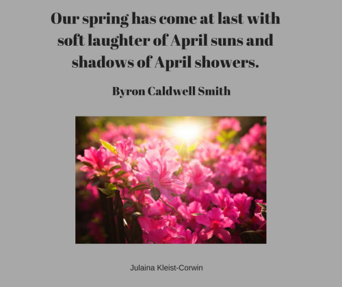 Our spring has come at lastSunday April suns and shadow